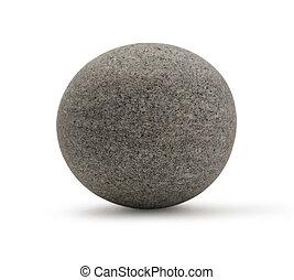 One sea stone on the white background
