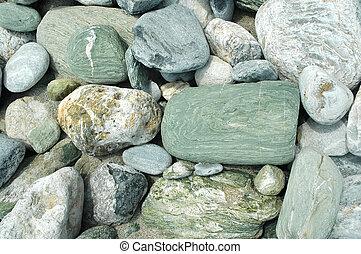 Sea stones and pebbles
