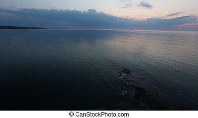 Sea Sunrise and Fishing Nets