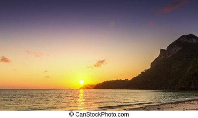 Sea sunrise time lapse