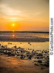 sea sunset at the stone beach