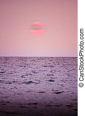 Sea sunset color the atmosphere of love.