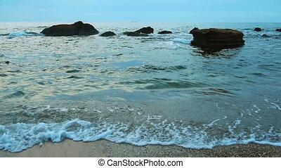 Sea surf at the coast