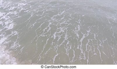 Sea surf slow motion aerial video