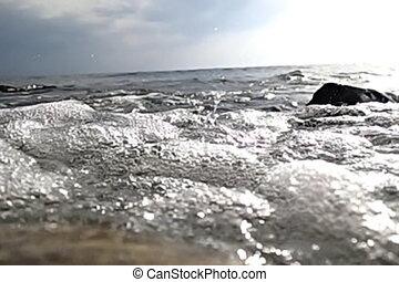 Sea surf slow motion