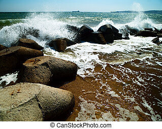 sea surf. Ukraine, Black Sea coastline