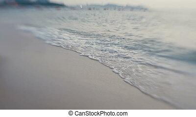 Sea surf. Waves lapping on the beach. Pattaya, Thailand....