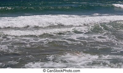 Sea Surf Waves on Sandy Beach.