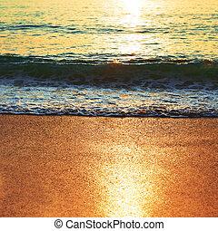 Sea Surface at Sunset