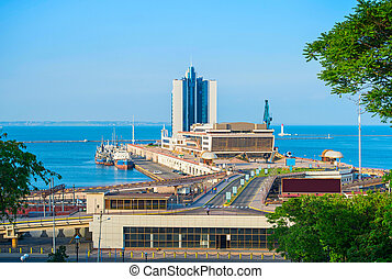Sea terminal in Odessa, Ukraine