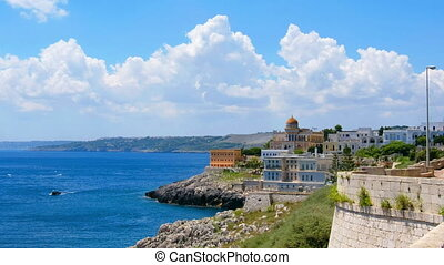 sea thermal village Santa Cesarea Terme boat Salento Apulia...