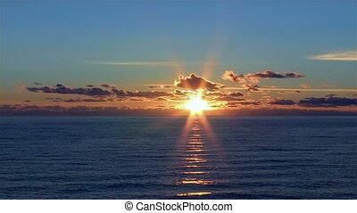 sea timelapse sunset