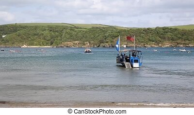 Sea tractor and ferry Salcombe Devo