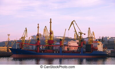 Sea Trading Port Activity.