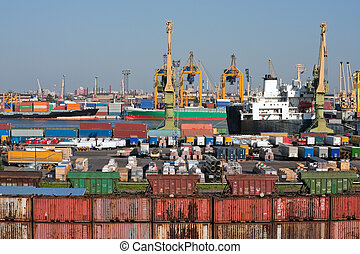 Sea trading port - Container terminal at sea trading port