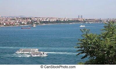 bosphorus - sea traffic on the bosphorus