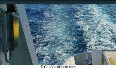 Sea Trail From the Stern of Cruise