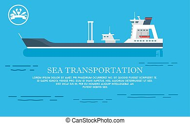 Sea Transportation Advert Vector Illustration
