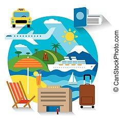 sea travel and cruise