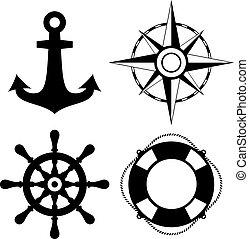 Sea travel vector icon