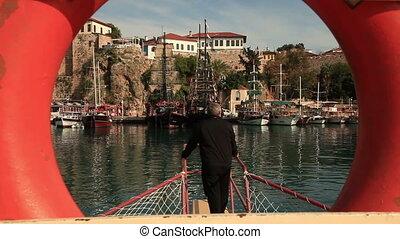 Sea trip (editorial) - Tourist doing  sea trip