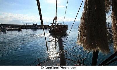 Sea trip in Mediterranean Sea