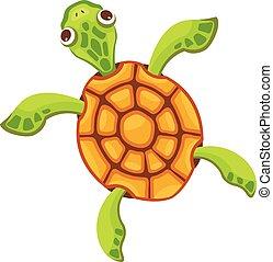 Sea turtle icon, cartoon style