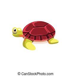 Sea Turtle. Vector Illustration