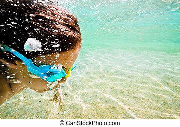 sea underwater motion