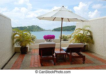 Sea view area at luxury villa, Phuket, Thailand