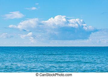 Sea view at sunny hot day.