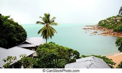 Sea View from Luxurious Holiday Beach Villas. Thailand. Koh Samui.
