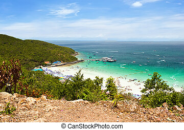 Sea view from The moutain in Koh Larn