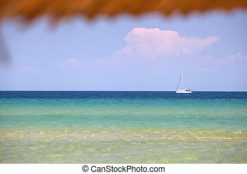 sea view on banana beach, Zakynthos Island - Greece