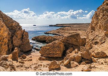 Sea view. Ras Mohammed National Park. Egypt.