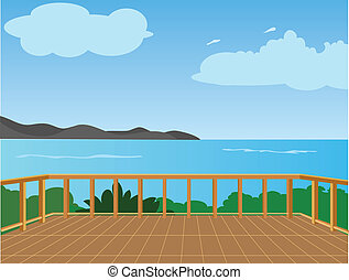 The Vector of sea view