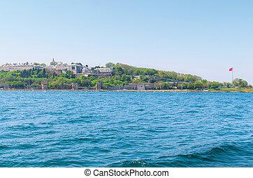 Topkapi palace before marmara sea Istanbul, Turkey - Sea...