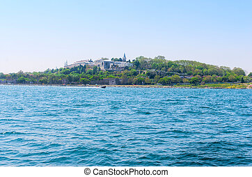 Topkapi palace before marmara sea Istanbul, Turkey - Sea...