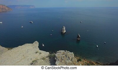 Sea View With Rocks, Wedding Decorations. - Panorama on top...