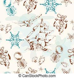 Sea vintage seamless pattern?