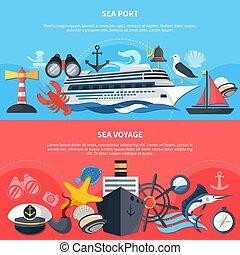 Sea Voyage Banners Set