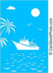 Sea voyage vacation travel card banner