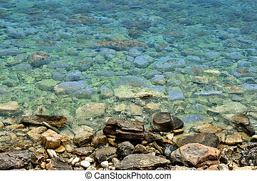 sea water stone beach background