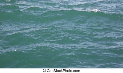 Sea water with small waves