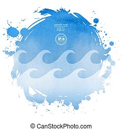 sea watercolor background