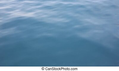 sea wave close up, low angle view in ocean