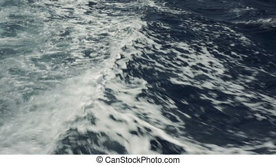sea wave close up, low angle view.