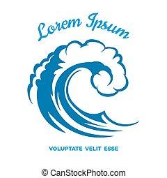 Sea wave logo template