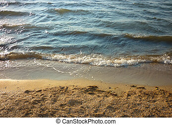 Sea wave on a sandy beach