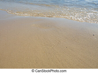 Sea waves on beach in natural harmony
